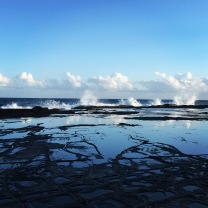 Rock pools at our private beach